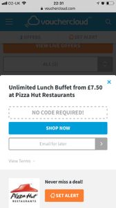 Unlimited Lunch Buffet from £7.50 at Pizza Hut Restaurants