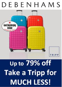 TRIPP LUGGAGE MEGA BARGAINS - up to 79% OFF! save £££.