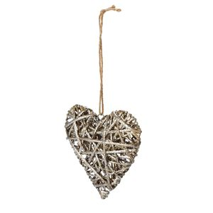 Natural Wicker Heart Decoration