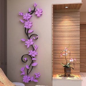 3D Flower Removable Wall Sticker - 5 Colours Available