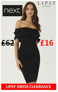 Half Price or Less - Lipsy Dresses Clearance at Next
