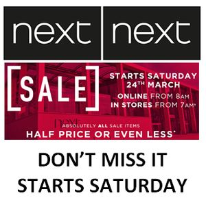 NEXT SALE HAS STARTED! EVERYTHING HALF PRICE or LESS.