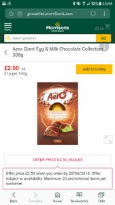 Morrisons Easter Eggs Sale! Online!