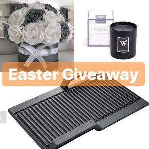 Win NEFF Induction Griddle Plate, Flowers Arrangement & Candle