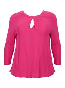 Evans Pink Sleeved Top
