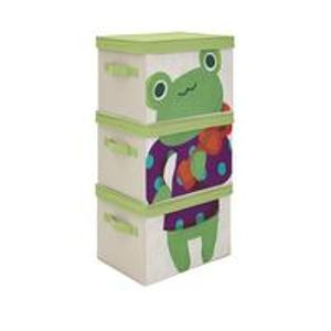 KIDS SET of 3 FROG STORAGE BOXES +Free Postage