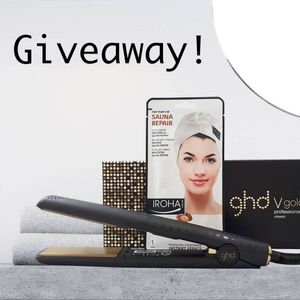 Win a GHD v Gold Styler + 12 Iroha Nature Hair Mask Caps