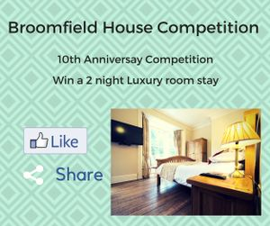 Broomfiled House - Win 2 Night Stay in a Luxury Room B&B worth £250