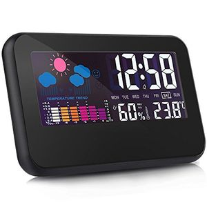 Otao Digital Hygrometer Room Thermometer Large LCD Screen Voice Control
