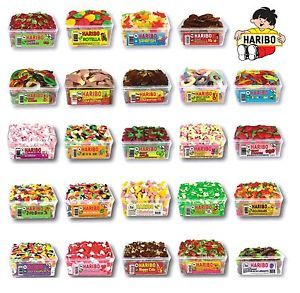1 X Full Tub Haribo Sweets Discount Candy Box Kids Party Treats