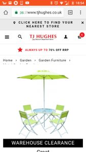6 Piece Garden Furniture Set Inc Del