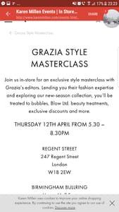 Free Grazia Master Class