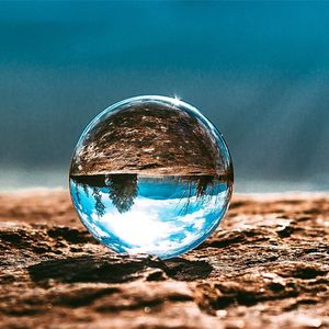 Clear Crystal Ball with Crystal Stand, Kioneer 80mm Magic Ball