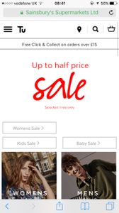 Sainsburys Tu Clothing Sale Has Started Online