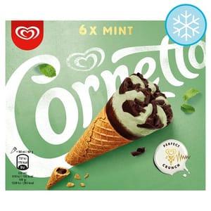 Cornetto Mint Ice Cream Cone 6 Pack