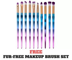 Free Unicorn Vegan Make-up Brushes
