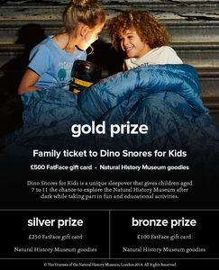 Win a £500 Fatface Gift Card & Natural History Museum Goodies +