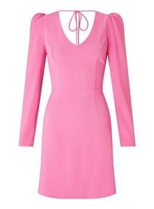 Pink Puff Shoulder Shift Dress