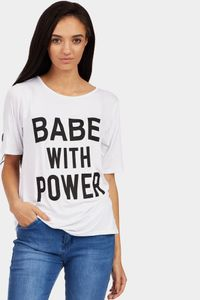 White Babe with Power T-Shirt