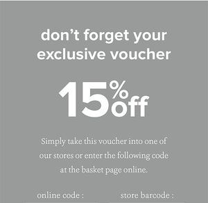 15% off at FatFace
