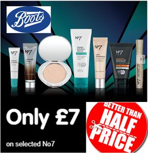 BOOTS Beauty Deal - ONLY £7 on Selected No 7 - BETTER than HALF PRICE DEALS