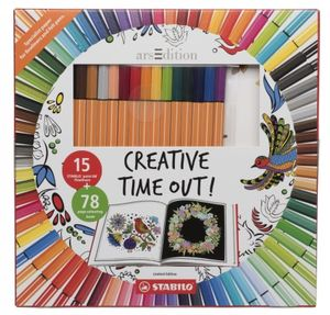 STABILO Creative Time out Colouring Book and Pens Set