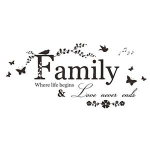 Family Vinyl Quote Wall Stickers