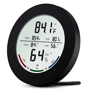 Oria Digital Hygrometer Thermometer, Temperature and Humidity Monitor