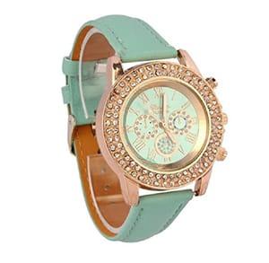Ladies Crystal Dial Quartz Analog Wrist Watch