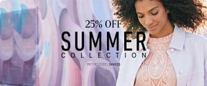 25% off Summers Collection Code SAVE25