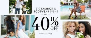 Up Tp 40% off Fashion and Footwear Code SAVE