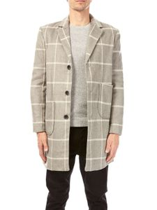 Another Influence Grey Wool Checked Coat