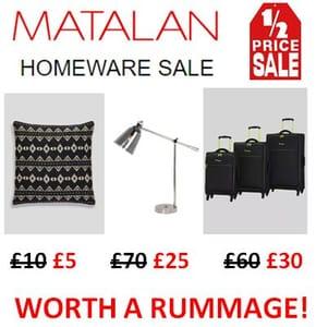 MATALAN Homewares SALE - HALF PRICE OFFERS!