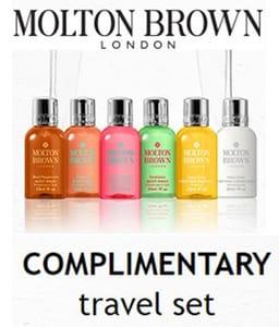 FREE MOLTON BROWN 6-Piece Travel Set WYS £40