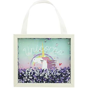Unicorn Are Real Hanging Sequin Frame