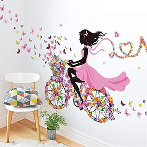 Meihuida Magic Fairy Bright Flower Wall Sticker FREE UK Delivery