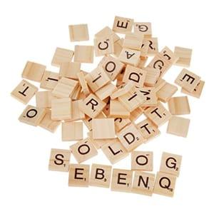 100 wooden alphabet scrabble tiles 1 14 at amazon latestdeals co uk