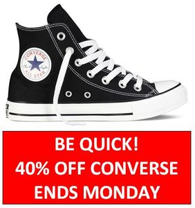 40% off CONVERSE SHOES - Be Quick! ENDS MONDAY