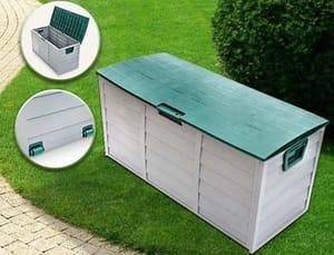 Huge Waterproof Garden Storage Box with Wheels