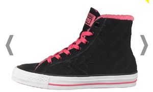 Converse Star Player Hi Fur Collar Trainers