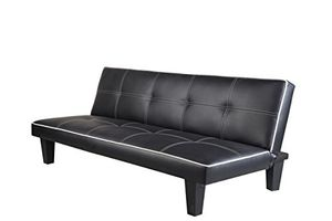 3 Seater Faux Leather Sofa Bed (Free P&p)