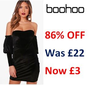 Up to 86% off Boohoo Dresses