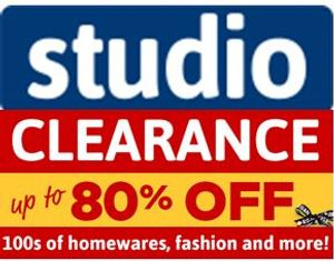 Studio Clearance - Good for Bargain Hunting!