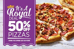 50% off Pizza Hut Discount Code (For Royal Wedding)