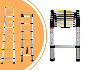 Telescopic Ladder, Extendable Ladder, 8.5 Feet