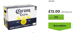 Bottled Corona 18 Pack 330ml