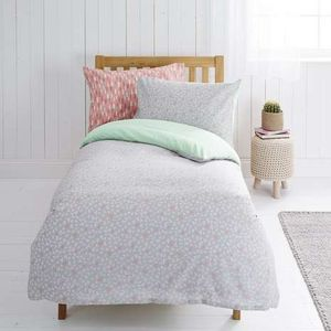 Single Twin Pack Reversible Duvet Cover and Pillowcase Set