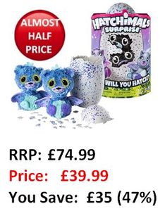SAVE £35! ALMOST HALF PRICE! Hatchimals Surprise at Amazon