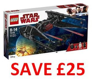 Become the Best Gift Giver in the Galaxy! £25 OFF! LEGO Kylo Ren's TIE Fighter