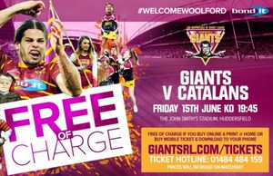 Huddersfield Giants vs Catalan Dragons Fri 15th June